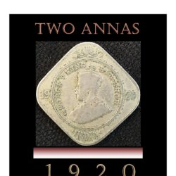 1920 Two Annas King George V - Best Value Found - Worth Collecting