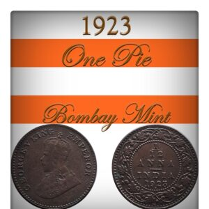 1923 1 by 12 1 PIE British India King George V Bombay Mint - Class Coin - Best Value