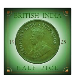1925 Half Pice King George V Rare Best Found