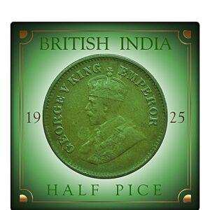 1925 Half Pice King George V Rare Best Found