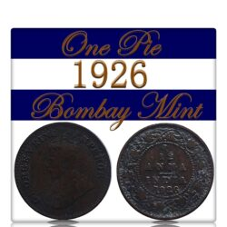 1926 1 by 12 1 PIE British India King George V Bombay Mint - Class Coin - Best Value