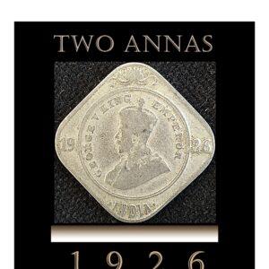 1926 2 Annas King George V Calcutta Mint - Worth Best Value -Best Buy