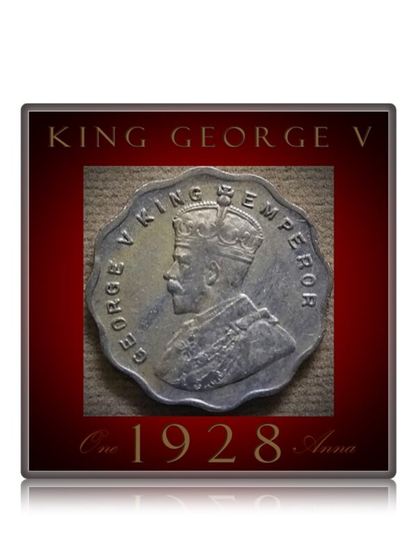 1928 1 Anna King George V -Worth Collecting - Best Value Found