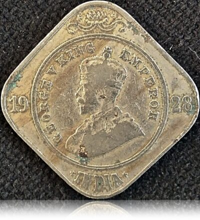 1928 2 Annas King George V - Bombay Mint Worth Collecting (O)