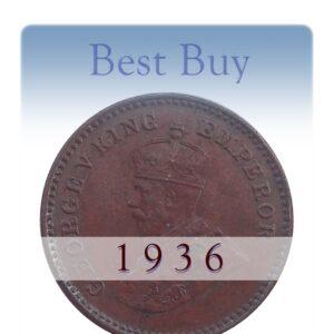 1936 One Twelve Anna British india King George VI