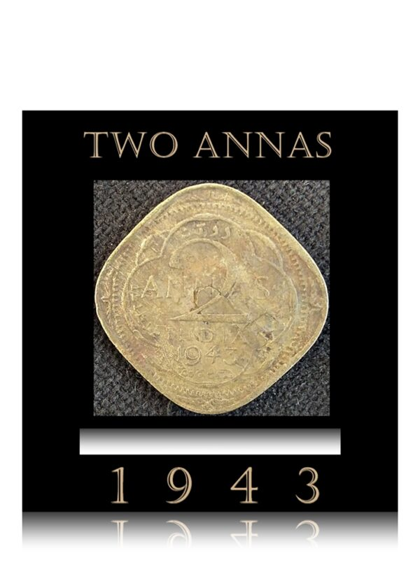 1943 2 Annas King George VI Best Buy on Value and Collection