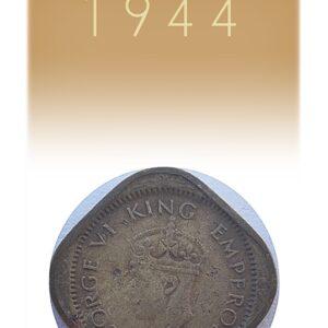 1944 Half Anna British india King George VI