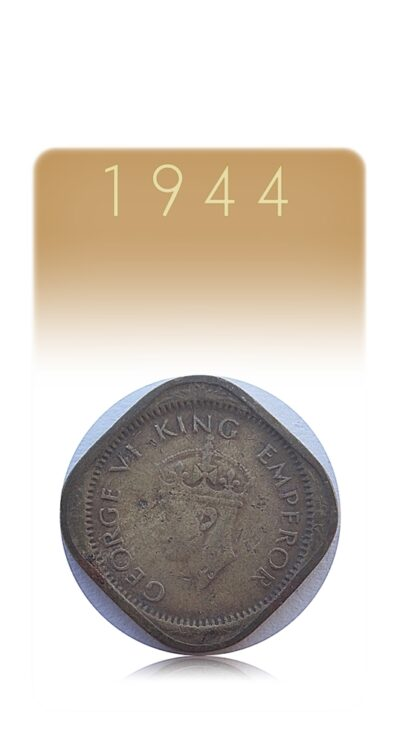 1944 Half Anna British india King George VI