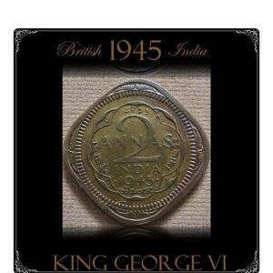 1945 2 Annas British India King George VI Rare Best Found online value Worth Collecting