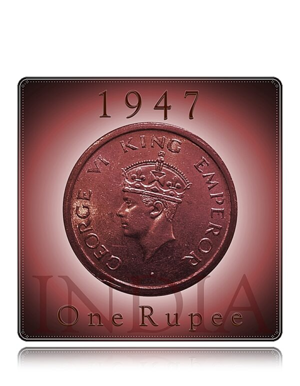 1947 1 Rupee King George VI - Best Value Coin on the Train