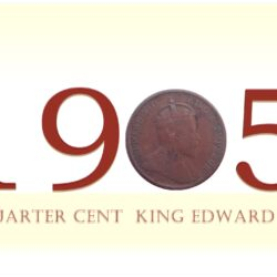 1905 Quarter Cent King Edward VII - Best Buy Straits Settlements