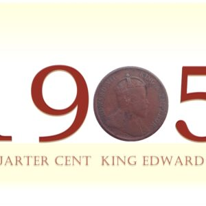 1905 Quarter Cent King Edward VII - Best Buy Straits Settlements