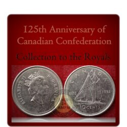 1867- 1992 10 Cents Canada Coin Queen Elizabeth II 125th Anniversary