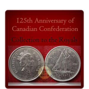 1867- 1992 10 Cents Canada Coin Queen Elizabeth II 125th Anniversary
