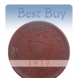 1939 One Twelve Anna King George VI