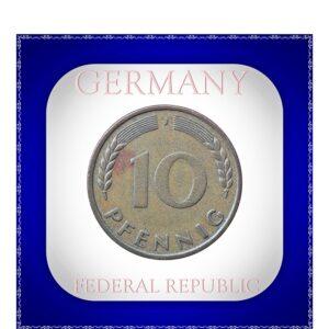 1950 10 Pfennig j mark Deutschland GERMANY FEDERAL REPUBLIC