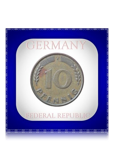 1950 10 Pfennig j mark Deutschland GERMANY FEDERAL REPUBLIC