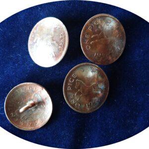 1954 1 pice Horse Galloping Button Coins 4 nos