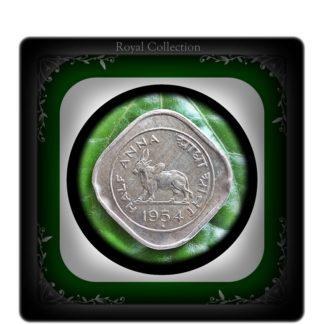 1954 Half Anna Bull Coin Best Value Online