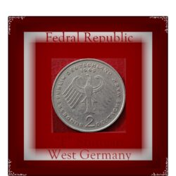1969 2 Deutsche Mark West Germany F Grade