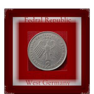 1969 2 Deutsche Mark West Germany F Grade