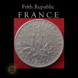 1977 1 Franc Republique Francaise Nickel coin best value online