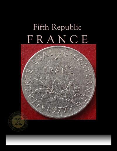 1977 1 Franc Republique Francaise Nickel coin best value online