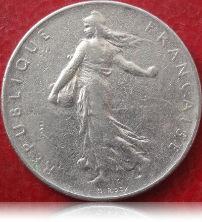 1977 1 Franc Republique Francaise Nickel coin best value online R