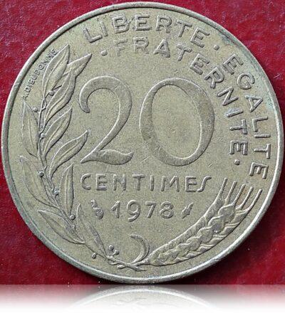 1978 Francia 20 centimes Republique Francaise (O)
