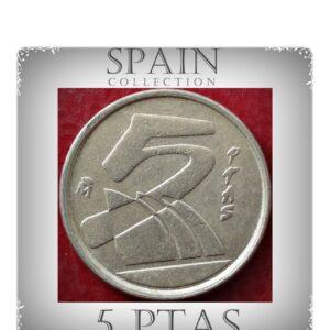 5 Pesetas 1997 Spain Juan Carlos I - Madrid (Crowned M)