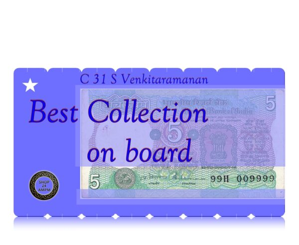 C 31 5 Rupee sig by S Venkitaramanan with Fancy number online best value