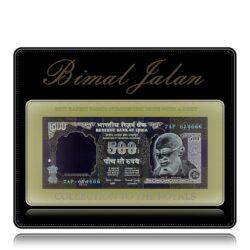 H-6 7AP 614666 A Inset Dr.Bimal Jalan 500 Rupee Note 3