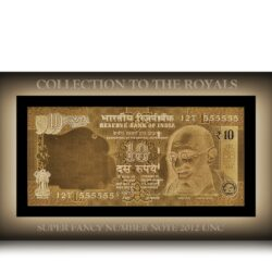 2012 10 Rupee Note L Inset Sign by Dr.Subbarao 12T 555555