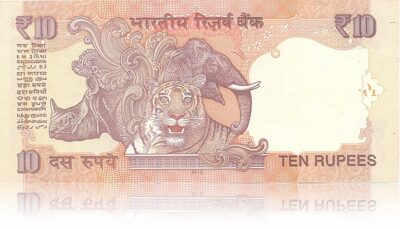 2012 10 Rupee Note L Inset Sign by Dr.Subbarao 12T 555555 (R)
