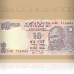 2013 10 Rupee Note Plain Inset Sign by Raghuram Ji Rajan D-- 93K 799999