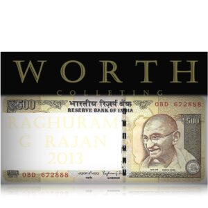 2013 Old 500 Rupee Note Semi Fancy No H- 0BN 672888