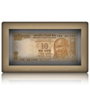 2014 10 Rupee UNC Note Sign by Raghuram G Rajan L Inset D- 78R 481555