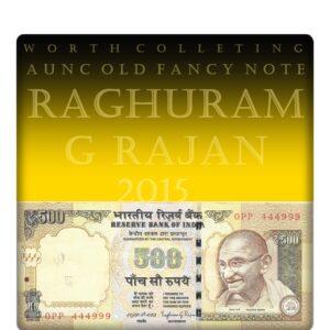 2014 500 Rupee Old Note AUNC worth Value best buy online by Raghuram G Rajan H-- 0PP 444999