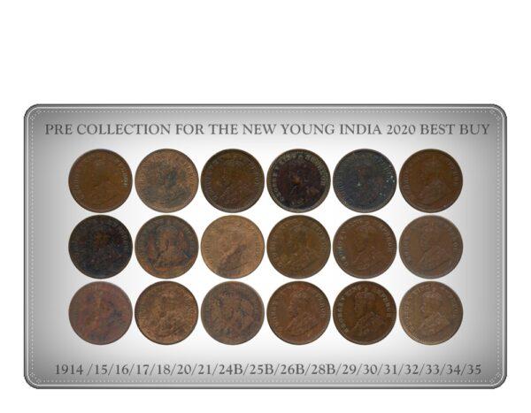1914 1915 1916 1917 1918 1920 1921 1924B 1925B 1926B 1928B 1929 1930 1931 1932 1933 1934 1935 1 12 ANNA King George V British India Copper Coins - Value worth Collecting