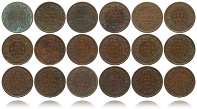 1915 1916 1917 1918 1921 1924B 1926B 1928 1929 1930 1931 1932 1933 1934 1935 1 12 ANNA King George V British India Copper Coins- Value worth Collecting R