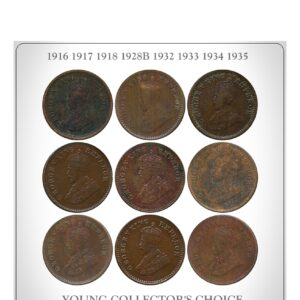 1916 1917 1918 1928B 1932 1933 1934 1935 1 12 ANNA King George V British India Copper Coins- Value worth Collecting