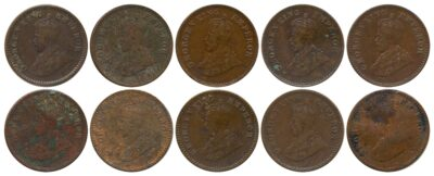 1918 1921 1924B 1928 1929 1930 1931 1932 1933 1934 1935 1 12 ANNA King George V British India Copper Coins- Value worth Collecting- Value worth Collecting O