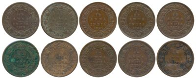 1918 1921 1924B 1928 1929 1930 1931 1932 1933 1934 1935 1 12 ANNA King George V British India Copper Coins- Value worth Collecting- Value worth Collecting R