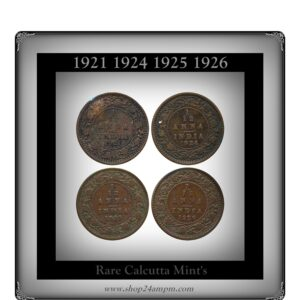 1921 1924c 1925c 1926c 1 12 Anna King George V -Rare Coins Value worth Collecting