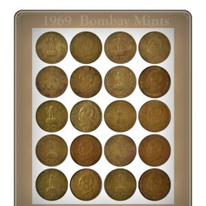 1969 20 Paise Mahatma Gandhi Aluminium Bronze -10 Coins - Worth Collecting