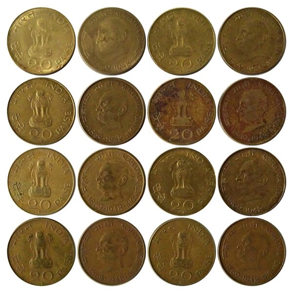 1969 20 Paise hyderabad mints 8 coins Worth Collecting Best Value Buy