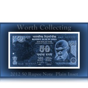 2012 50 Rupee Note Plain Inset Sign by Dr.Subbarao 577777 Worth Collecting