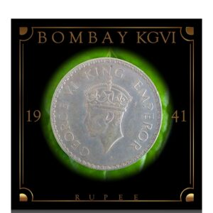 1941 1 Rupee King George VI Bombay Mint