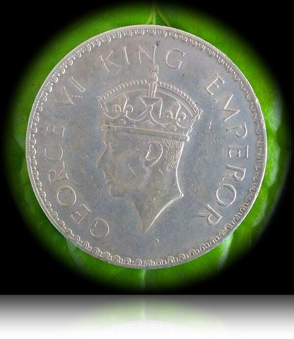 1941 1 Rupee King George VI Bombay Mint (O)