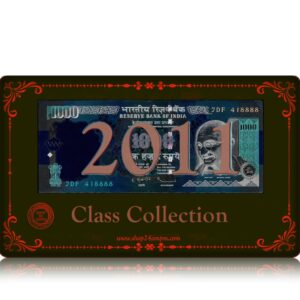 2011 Old 1000 Rupee Note with tripple Fancy Ending number sig by D Subbarao